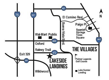 Lakeside Landings directional map