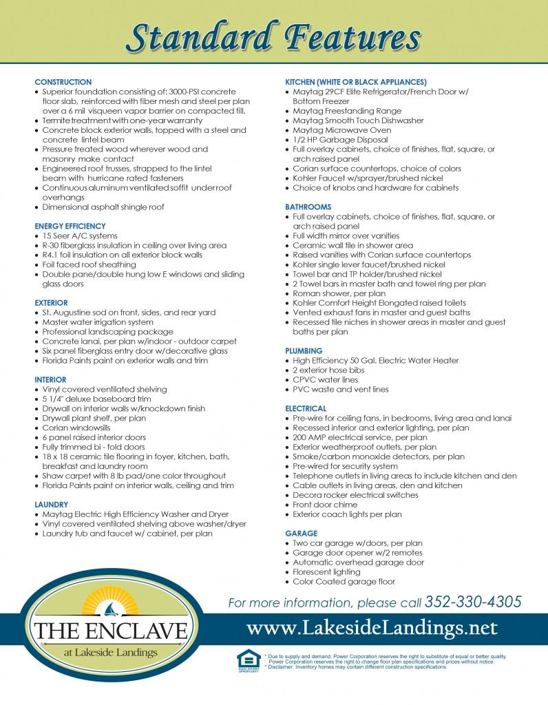 Standard Features Brochure 021716